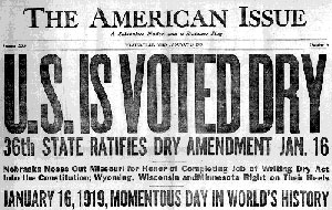 newspaper1 Revisiting the Volstead Act: The Power Behind the Eighteenth Amendment for Prohibition