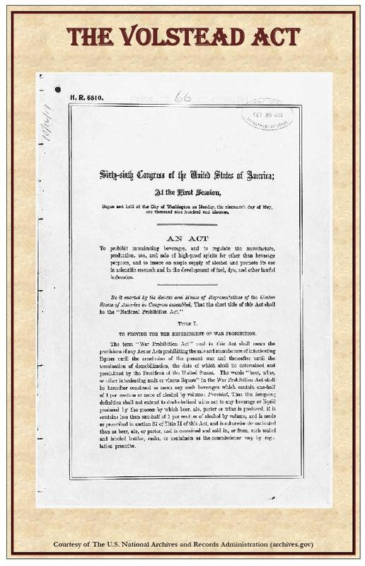 volstead act 5a88f473ef Revisiting the Volstead Act: The Power Behind the Eighteenth Amendment for Prohibition