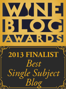 Wine Blog Awards 2013 Best Single Subject
