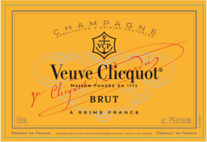 Veuve Clicquot Champagne Brut Label