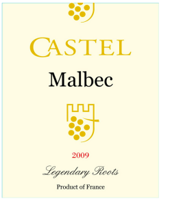Castel French Winery Malbec Wine Label Trademark Law China
