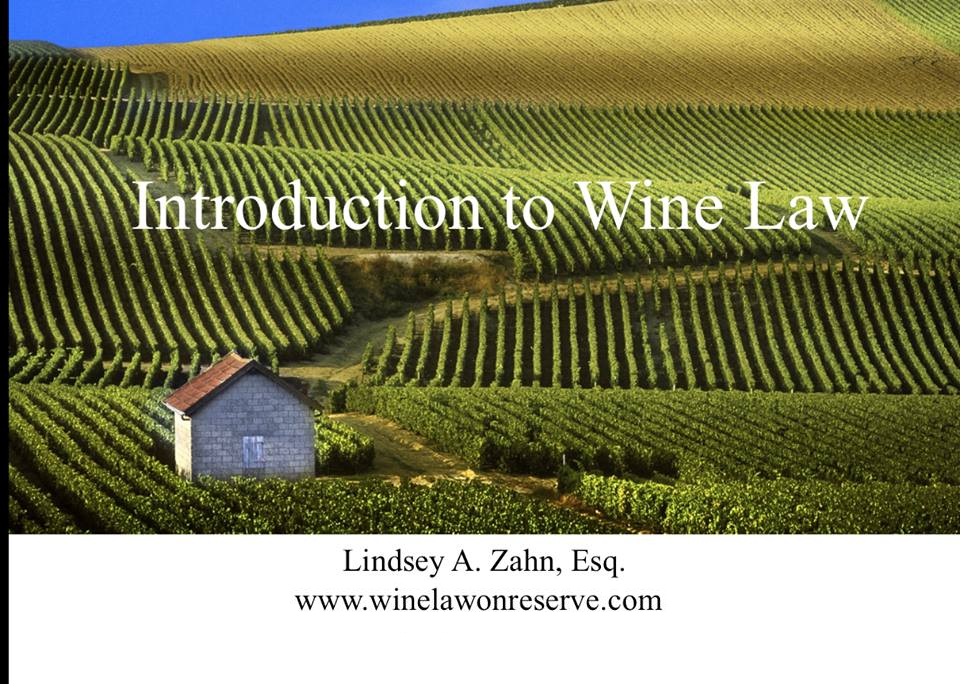 Introduction to wine law CLE course Thank You for Attending the Wine Law CLE