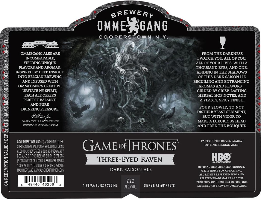 Game of Thrones Three Eyed Raven Ale Beer Label