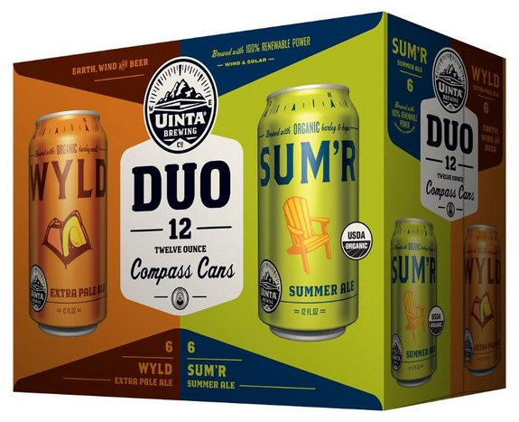Uinta Brewing Duo Compass Cans