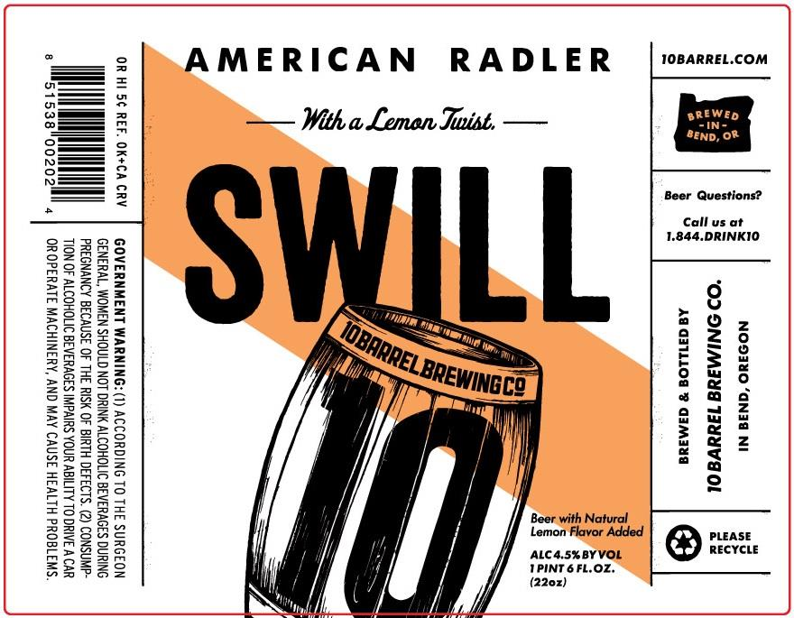 Swill Beer 10 Barrel Brewing Likelihood of Confusion Trademark USPTO