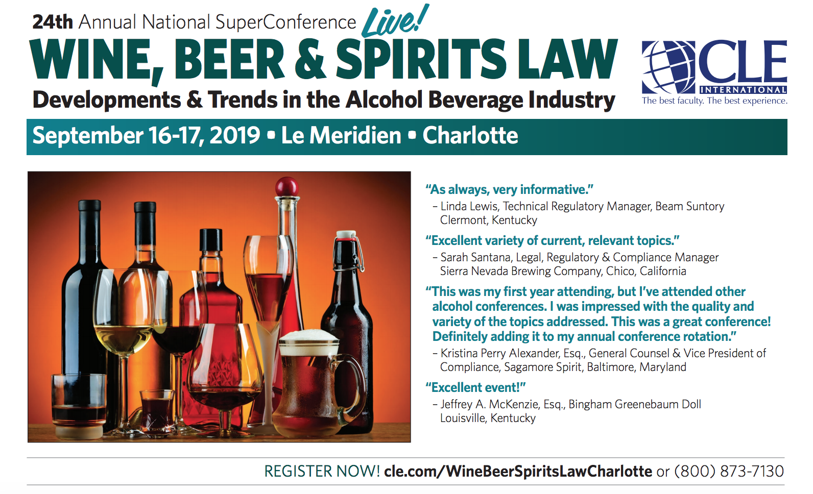 Wine Beer Spirits Law CLE in Charlotte, North Carolina